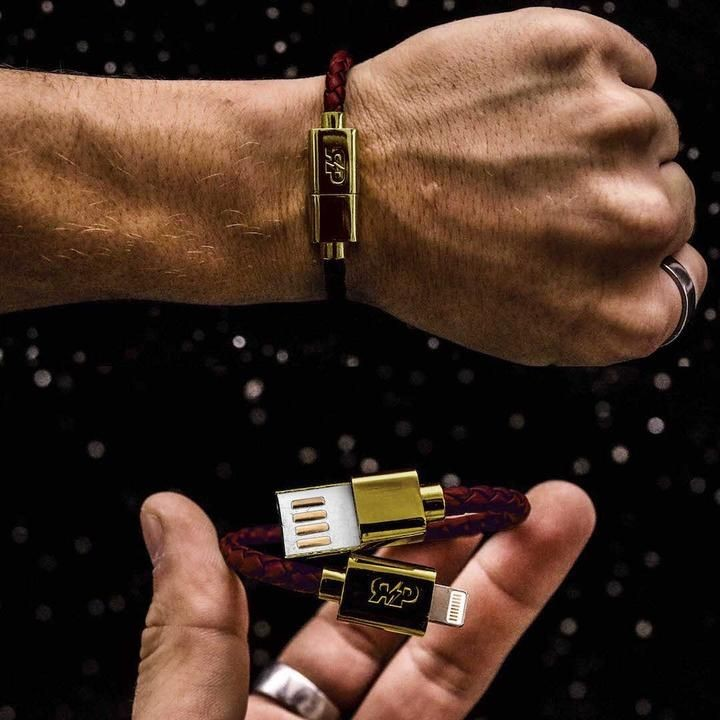 Charging Cable Bracelet by Revive Project